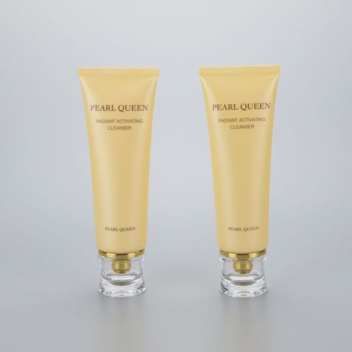 luxury 120g cosmetic plastic tube for face wash clean with acrylic cap