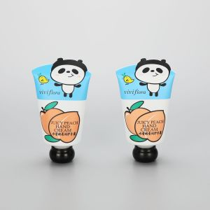 40g cosmetic plastic cute hand cream tube packaging with animal shape tail