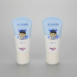 50g cosmetic plastic tube for baby face cream with orifice reducer filp top cap
