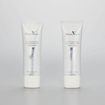 50ml oval alminum plastic cosmetic hand cream tube CC cream tube with silver screw on cap