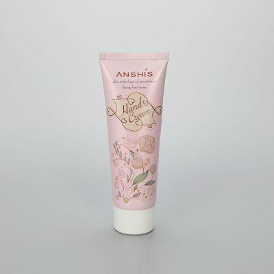 80 ABL pink cosmetic hand cream tube plastic cream packaging with screw cap