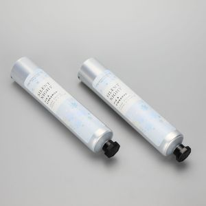 130ml aluminum packaging tube cosmetic hand cream tube with octagonal screw cap