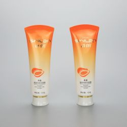 120g gradient orange plastic soft face wash tube plastic cosmetic tube with screw cap