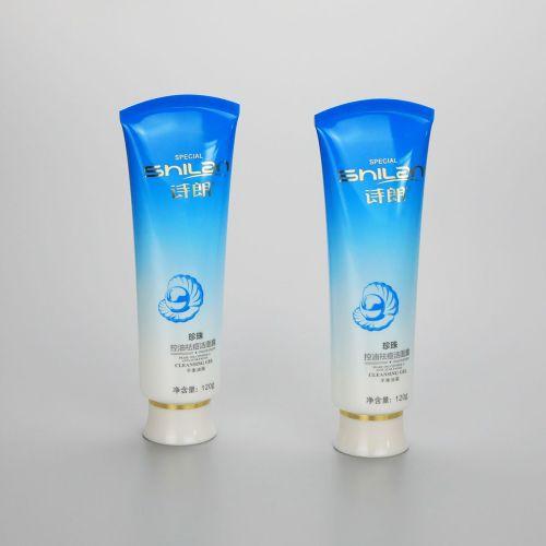 120g gradient blue plastic faccial cleanser tube plastic cosmetic plastic tubes with screw cap