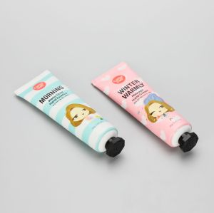 30g cute ABL hand cream tube with black octagonal screw cap