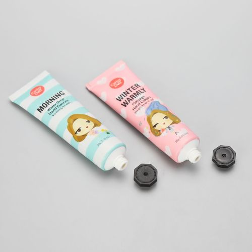30g cute ABL hand cream tube with black octagonal screw cap