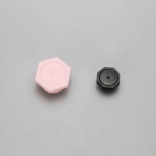 80g cosmetic plastic hand cream tubes with pink octagonal screw cap