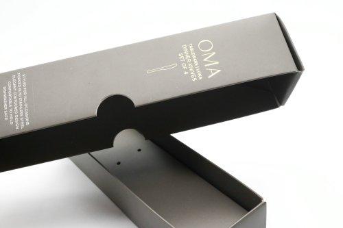 Cutlery Tableware Sets Storage Paper Packaging Black Card Gift Box