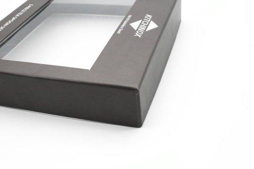 Free Sample Custom Logo Cap Paper Box with PVC Window for Tea Spoon