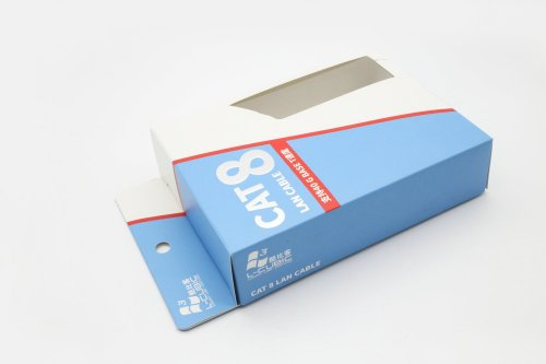 Small Batch Custom Paper Boxes Electronics Packaging with PVC Window
