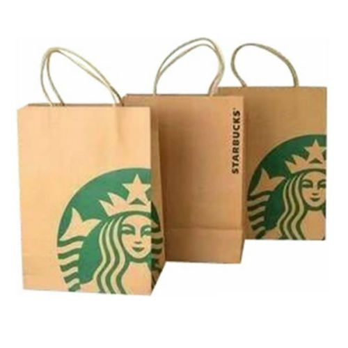 Retail Kraft Paper Packaging Recyclable Food Packaging Shopping Bag
