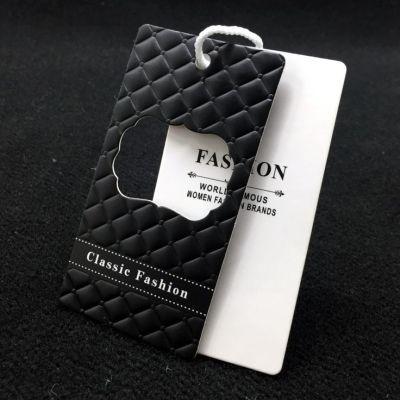 Cheap Custom Design Printing Name Logo Paper Clothing Garment Hanging String Paper Tags
