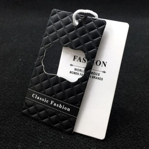 Cheap Custom Design Printing Name Logo Paper Clothing Garment Hanging String Paper Tags