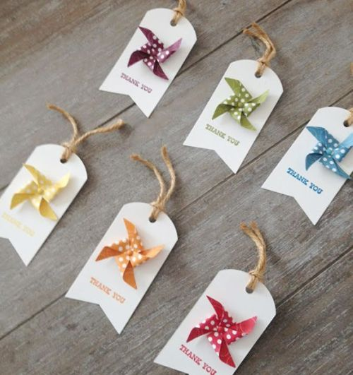 Retro Paper Giftware Tags Clothes Jeans Cards  with Sling Rope