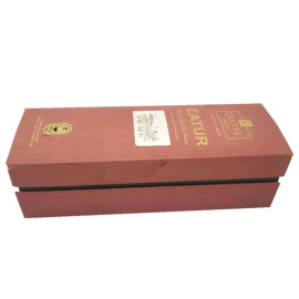 Wheolesale red wisky  individual paris wine packaging box