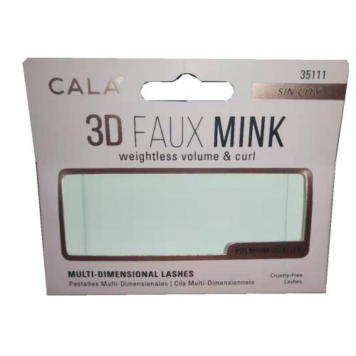 Private label custom personalized printed false eyelash packaging box