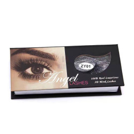 custom logo eyelash packaging box with window