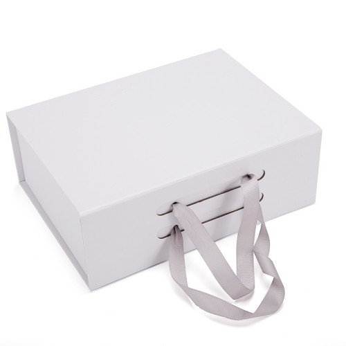 Pink gift Foldable Cardboard Box Gift Box Packing With Ribbon
