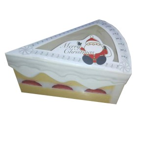 Sandwich Packaging Triangle Transparent Window Cake Box