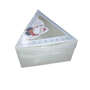 Sandwich Packaging Triangle Transparent Window Cake Box