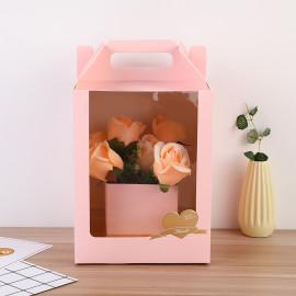 Double Custom Eco Friendly Gift Packaging Pack Heart Flower Box