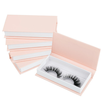 Diamond Handle White Paper Eco Private Label Custom Eyelash Box Packaging