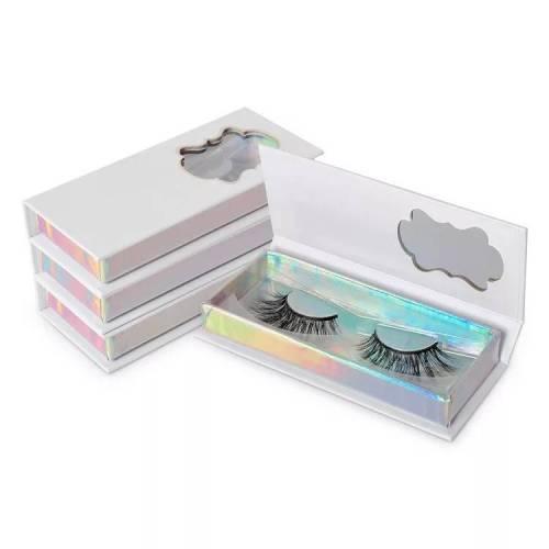 Diamond Handle White Paper Eco Private Label Custom Eyelash Box Packaging