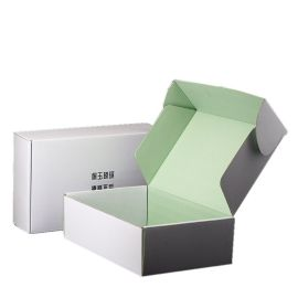 Custom Corrugated Black Printed White Mailer Box
