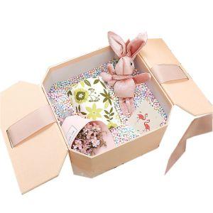 Jwerly Boxing Black Tin Self Assessment Boxes Custom Cardboard Ribbon Handle Personalized Carton Paper Gift Box