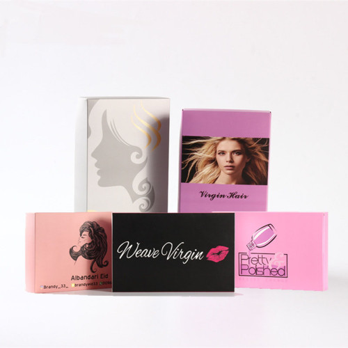 Boxes Bundle Custom Velvet Box Pribted Cardboard Logo Shape Gift Satin Pink Extension Hair Extensions Packaging
