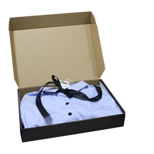 Custom Eco Friendly Print Black Baby T Shirt Sock Clothing Packaging Boxes