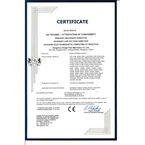 CE Certificate for Drain Cleaning Machines