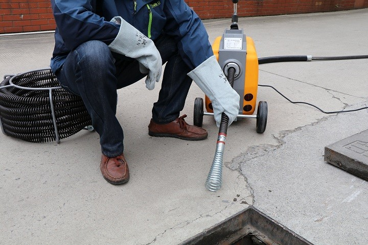 A200 drain cleaning machine application