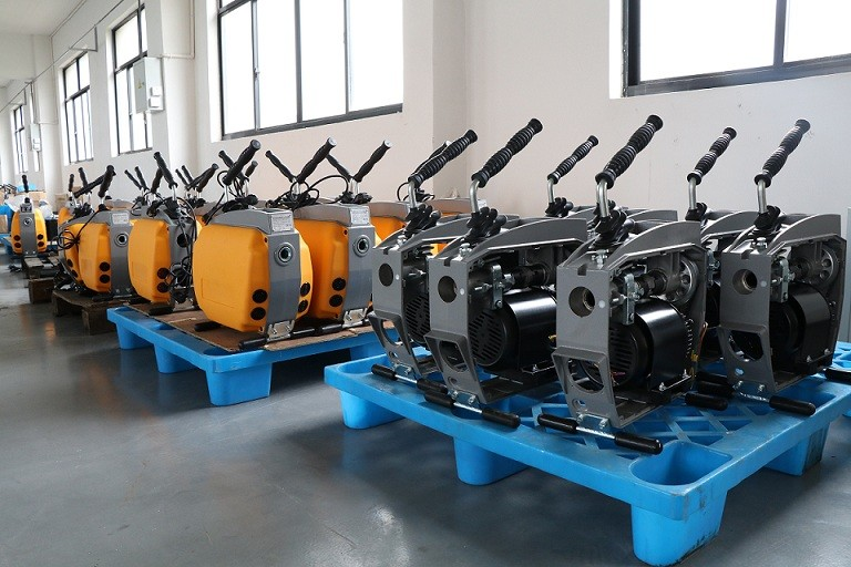 drain cleaning machine assembly site