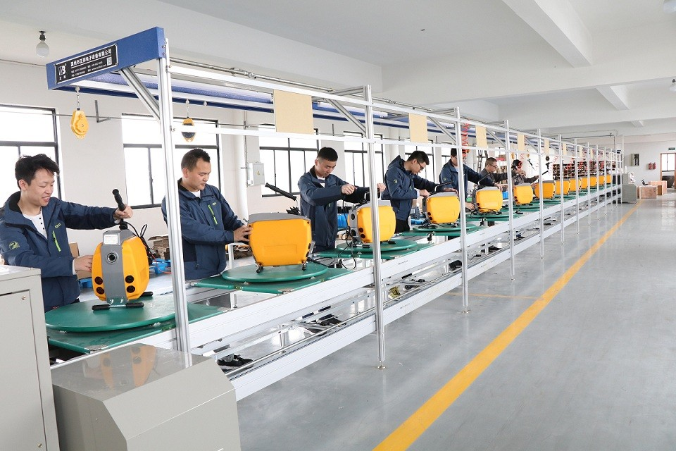 drain cleaning machine assembly line