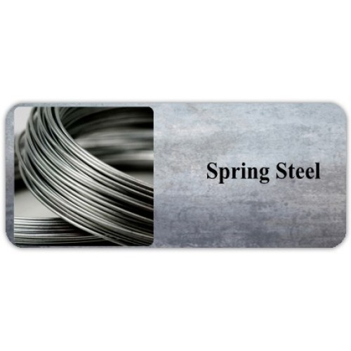 Spring Steel is a class of steel alloys which are typically heat-treated to optimize their spring-like properties.