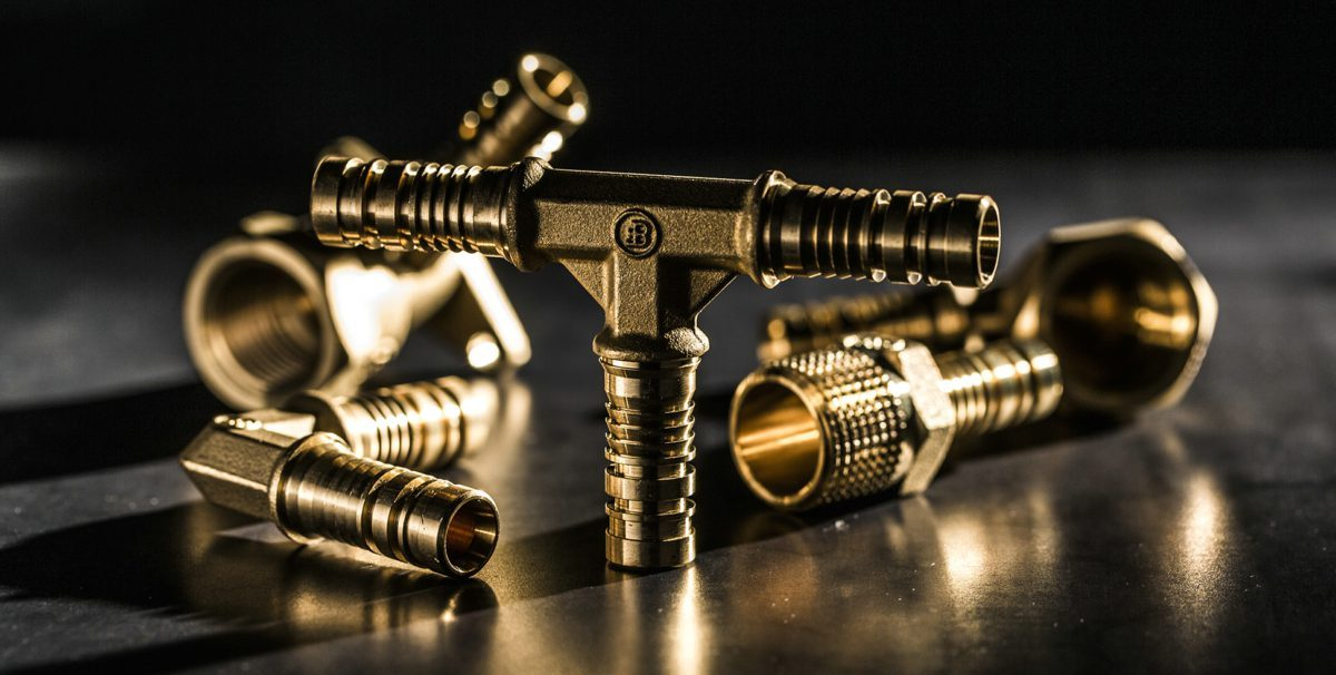 brass pipe fitting components