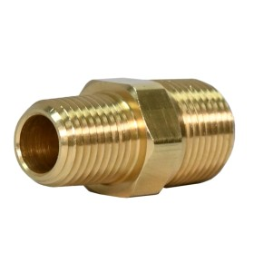 OEM High Pressure CNC Machining Brass Hex Nipple Tube Joint Gold Tone Pipe Fittings