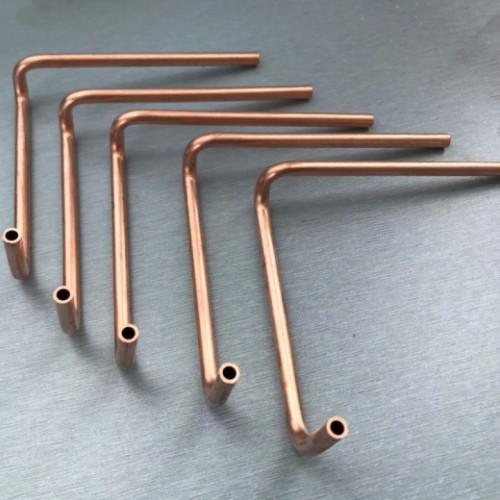 OEM de calidad superior que trabaja a máquina los accesorios de cobre redondos T2 para los montajes del aire acondicionado