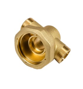 Professional Brass Hot Forging Parts Machined Services High Precision Brass Pipe Fittings