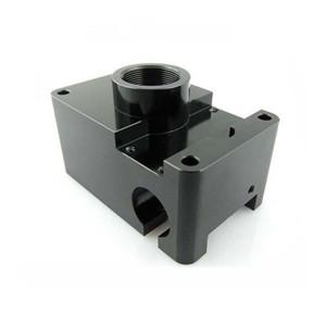 Hochpräzise drehbare CNC-Bearbeitungsteile mit schwarz eloxiertem Material