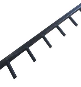 Hochpräzises kundenspezifisches Schmieden Schweißen von Haushaltsteilen für schwarze Power Coating Steel Header Fittings