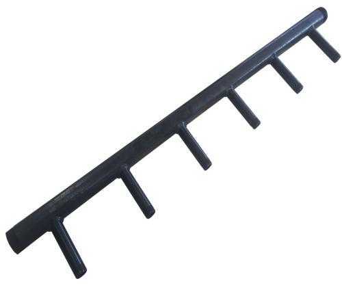 Pièces de ménage de soudure de pièce forgéee de haute précision faite sur commande pour des garnitures en acier d'en-tête de revêtement de puissance noire