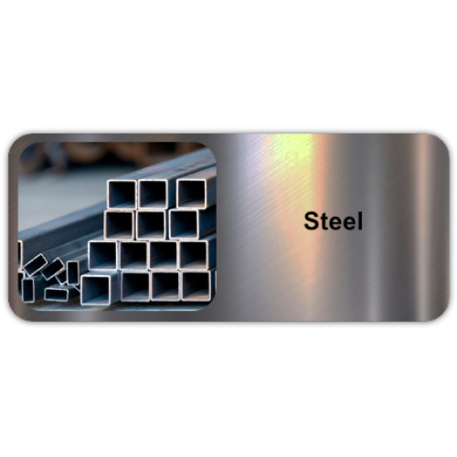 Steel is a popular metal alloy consisting mostly of iron and some carbon.