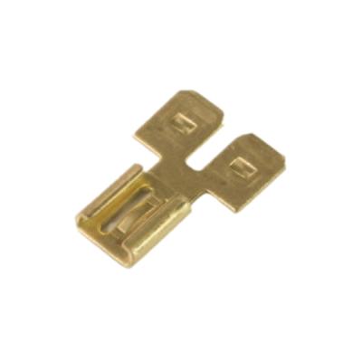Personalizado de alta precisión de latón estampado hembra doble adaptador macho componentes electrónicos