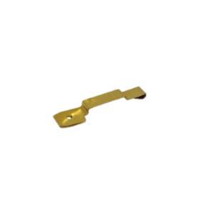 Kundenspezifischer hochpräziser Messingstempel-Sicherungshahn für elektronische Komponenten