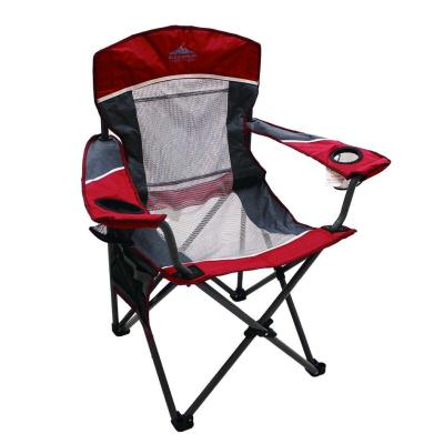 Steel Folding Canvas Padded Beach Camping Chair-Cloudyoutdoor