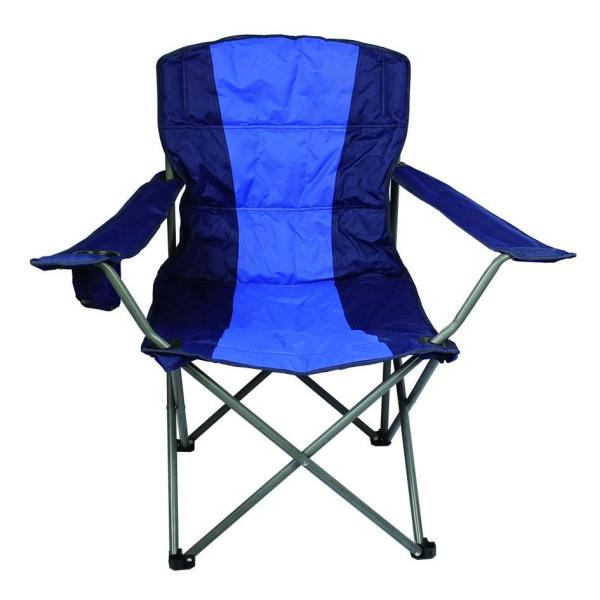 Outdoor Blue & Black Lazy Boy Folding Chair for Camping Picnic-Cloudyoutdoor
