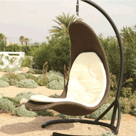 Outdoor egg shaped patio swing chair with good price