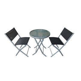 Modern Outdoor Backyard 3 piece Patio Table and ChairSet for Sale-Cloudyoutdoor